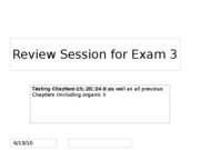 Exam 3 review session (Chapter 19, 20, 24.6)