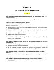 BIO 106 - Study guide - Chapter 8 (1).doc