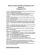 history of jazz 353 assignment history of jazz 353 music worksheet one chapter 3. Black Bedroom Furniture Sets. Home Design Ideas