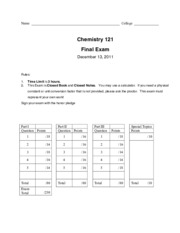 Chem121_Fall2011_FinalKey