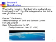 Lecture 8 Globalization