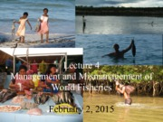 Lecture 4 - Fisheries