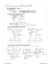 Factoring Quadratics Notes