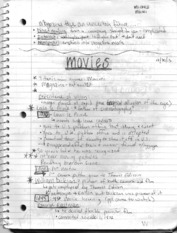 Movie and Film notes