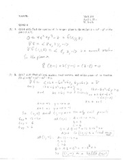 Quiz 4 Solution on Calculus