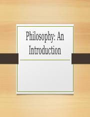 Philo an Introduction