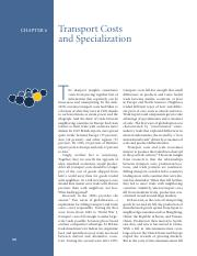 Chapter 06 Transport Costs and Specialization