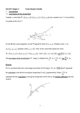 Ch.5 Vector Integral Calculus