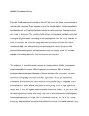 english writing and inquiry carteret community college  5 pages wildlife conservation essay