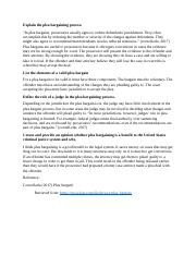 plea bargainig cja224 Cja 224 tutorials cja224dotcom cja 224 week 3 individual plea bargaining paper individual plea bargaining paper write a 1,050- to 1,400-word paper in which.