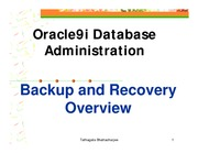 1-Oracle Backup Recovery Overview