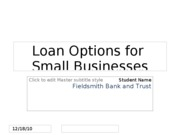 Loan Options Presentation