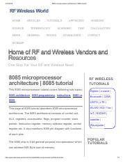 8086 Microprocessor Tutorial Pdf