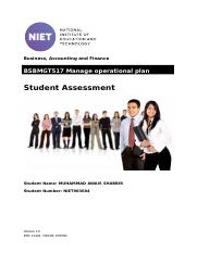 BSBMGT517 Manage operational plan.docx