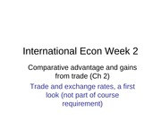 Week 2-Comparative Advantage