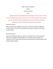 law 421 week 1 quiz