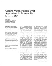 gradingwrittenprojects