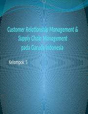 Customer Relationship Management & Supply Chain Management GIA