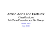 26 AAs - Class - acid base and net charge