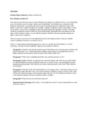 Unit Three -- position paper proposal and assignment sheet (3)