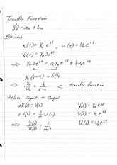 Transfer Function Definition and RLC Circuit