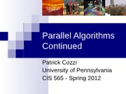 02-06-Parallel-Algorithms-Continued