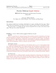 MidtermPractice and solutions