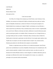 Spanish Final Paper