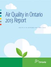 (Reading 7) Air Quality in Ontario 2013 Report