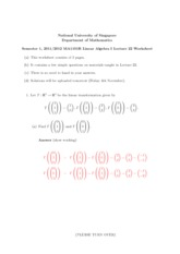 Lecture 22 Worksheet Solution
