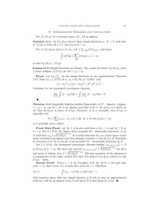 Chapter 11- Convolutions and Approximations