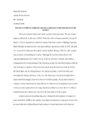 War in Iraq Paper2