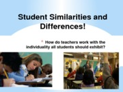 Wed April 11student similarities & differrences