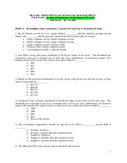 BUS302 Sp17 Final Questions