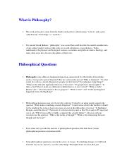 What is Philosophy mid term .docx