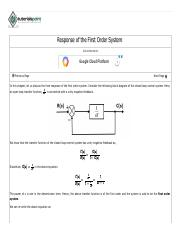 Control Systems Response of the First Order System.pdf