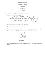 CHEM 263 - Final Exam - June 16, 2006