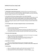 BUSN219 Final Exam Study Guide.docx