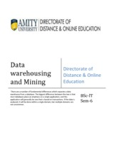 Data Warehousing  Mining