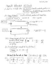 Lecture 28 - RC Circuits