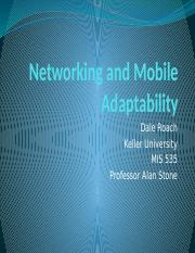 Networking and Mobile Adaptability