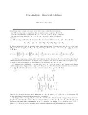 real analysis homework solutions chris monico
