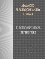 Chapter 3 Electroanalytical technique (Voltammetry)