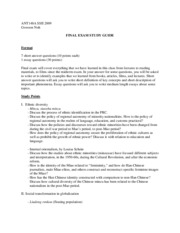 Final exam study guide_ANT148A SS2 2009