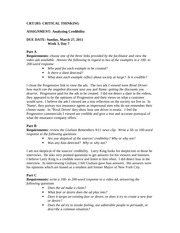 Assignment-Analyzing Credibility