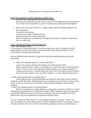 Reading questions disparities in health care.docx