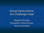 Group Dysfunctions and the Challenger case_1-3
