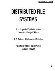 Distributed File System 15 File Service Architecture The Client Module Course Hero