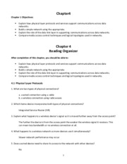 CCNA1 Chapter 04 - Reading Organizer