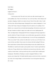 The Catcher in the Rye Creative Writing Assignment